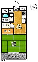 福井ビル[303号室]の間取り