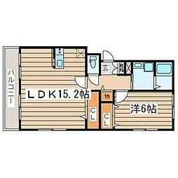 神奈川県海老名市門沢橋2丁目の賃貸マンションの間取り