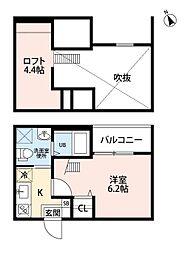 ヴァンクール中小田井 (ヴァンクールナカオタイ )[2階]の間取り