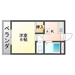 サニーヒルズ泉田I[4階]の間取り