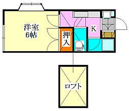 ローヤルハウス[202号室]の間取り