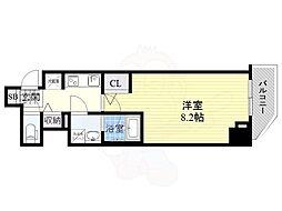 ファーストフィオーレ東梅田 5階1Kの間取り