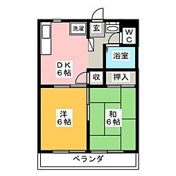宮城県仙台市若林区新寺3の賃貸マンションの間取り