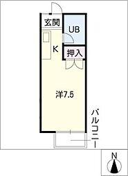 キャッスルハイムB棟[2階]の間取り