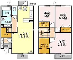 [テラスハウス] 岡山県倉敷市児島田の口2丁目 の賃貸【/】の間取り