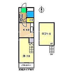 コーポIOROI[2階]の間取り