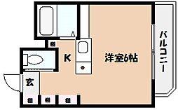 兵庫県神戸市東灘区本山南町9丁目の賃貸マンションの間取り