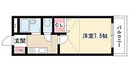愛知県名古屋市名東区極楽1丁目の賃貸マンションの間取り