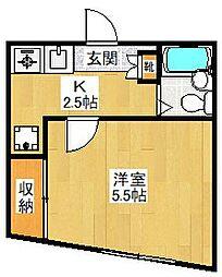 東京都世田谷区若林4丁目の賃貸アパートの間取り