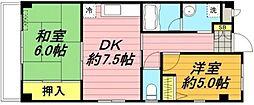 297ハイム[2階]の間取り