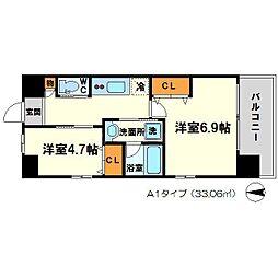スプランディッド新大阪III(サード)[13階]の間取り