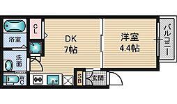 ジュネス trois 新大阪[2階]の間取り
