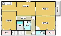 [テラスハウス] 兵庫県小野市大島町 の賃貸【/】の間取り