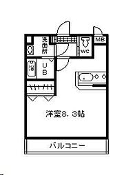 ソピアハイツ[2階]の間取り