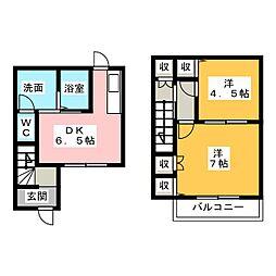 [テラスハウス] 愛知県清須市清洲田中町 の賃貸【愛知県 / 清須市】の間取り