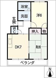 オレンジタウンB棟[3階]の間取り
