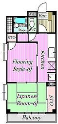 新海マンション[2階]の間取り