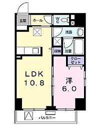 東京都台東区三筋2丁目の賃貸マンションの間取り