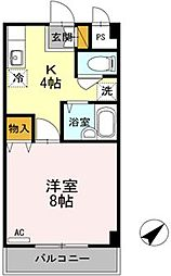 広島県福山市春日町6の賃貸マンションの間取り