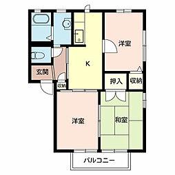 ハイツ木茂[2階]の間取り