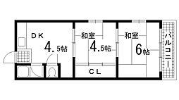 兵庫県神戸市須磨区妙法寺字口ノ川の賃貸マンションの間取り