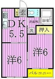 MKC西新井ハイツ[3階]の間取り