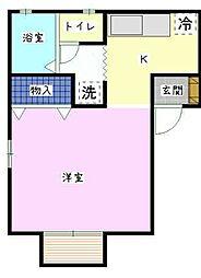 茨城県古河市古河の賃貸アパートの間取り