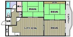 Rinon津々山台[2階]の間取り