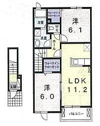 セレスタ[2階]の間取り