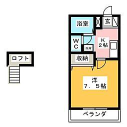 ミキスクエア鴨田[2階]の間取り