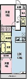 千葉県浦安市富士見3の賃貸マンションの間取り