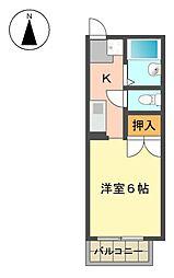 セジュール文教[2階]の間取り