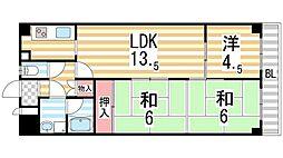セワール吉田[406号室]の間取り