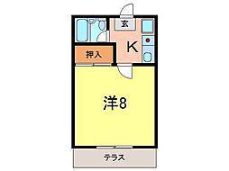 安井マンションII[210号室]の間取り