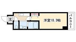 愛知県名古屋市昭和区山手通1丁目の賃貸マンションの間取り