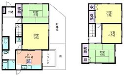 [一戸建] 東京都東村山市富士見町5丁目 の賃貸【/】の間取り