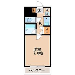 コスモハイツ小田原[2階]の間取り