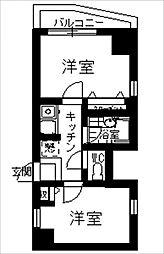 アバンス薬院[6階]の間取り