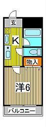 埼玉県さいたま市中央区本町西5丁目の賃貸マンションの間取り