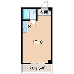 Uビル[2階]の間取り
