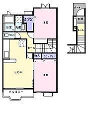 Kハウス I[0203号室]の間取り