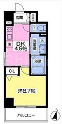 大阪府堺市北区百舌鳥赤畑町1丁の賃貸マンションの間取り