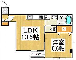 プレステージII[2階]の間取り