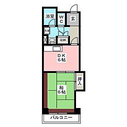 233博多II[9階]の間取り