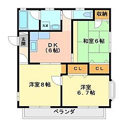 KSハイツII・III[1階]の間取り