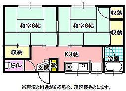 第2高松荘[2階]の間取り
