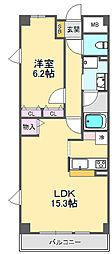 兵庫県西宮市甲子園三番町の賃貸マンションの間取り