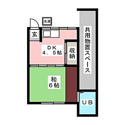 浦野荘[1階]の間取り