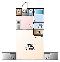 ベルファーム甲子園[2階]の間取り