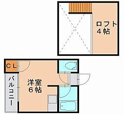 マキシム笹原[1階]の間取り